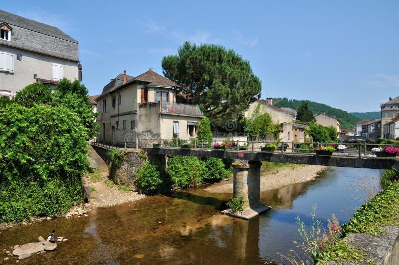 Франция, живописный замок Salignac стоковые фото