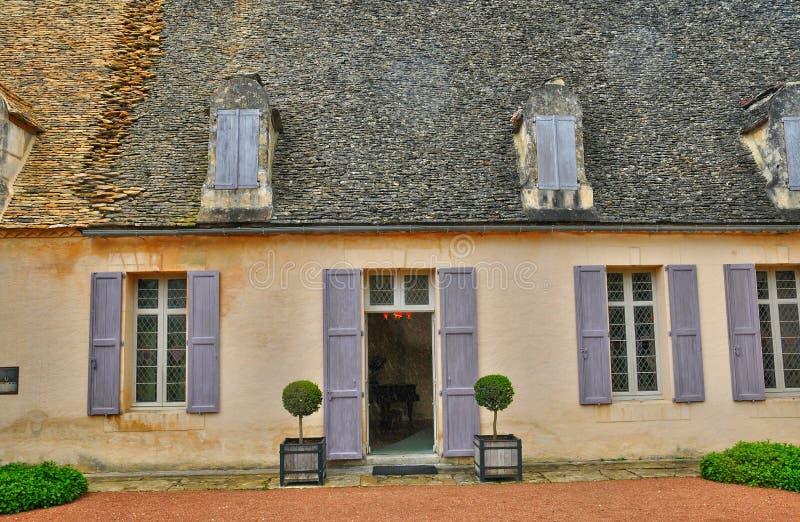 Франция, живописный сад Marqueyssac в Дордоне стоковая фотография rf