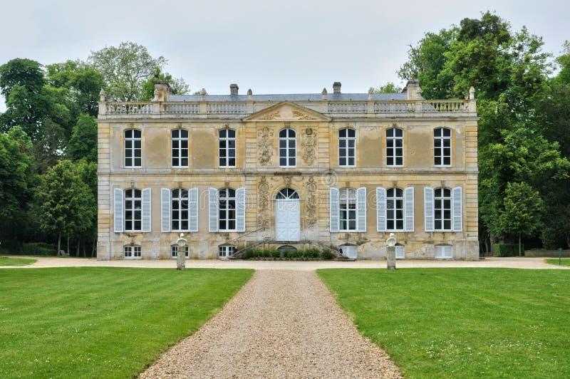 Франция, замок канона в Normandie стоковые фотографии rf