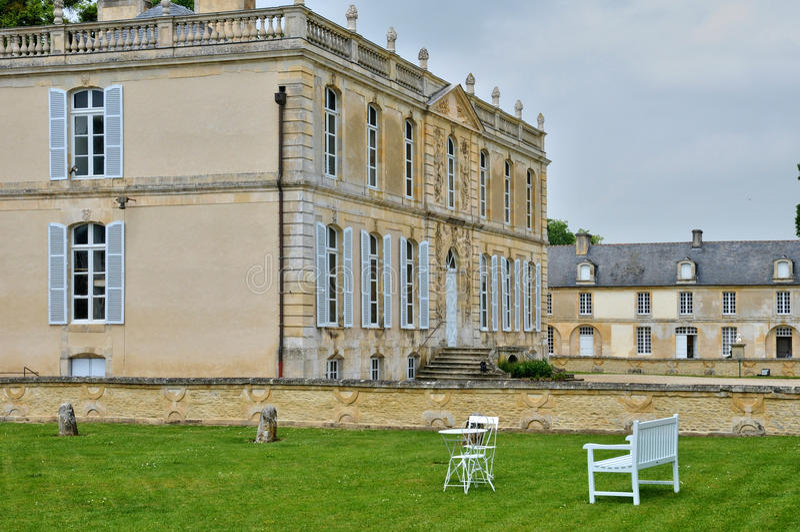 Франция, замок канона в Normandie стоковая фотография rf
