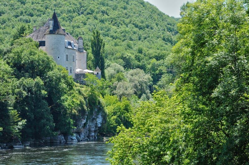 Франция, замок Treyne Ла Lacave в серии стоковая фотография rf