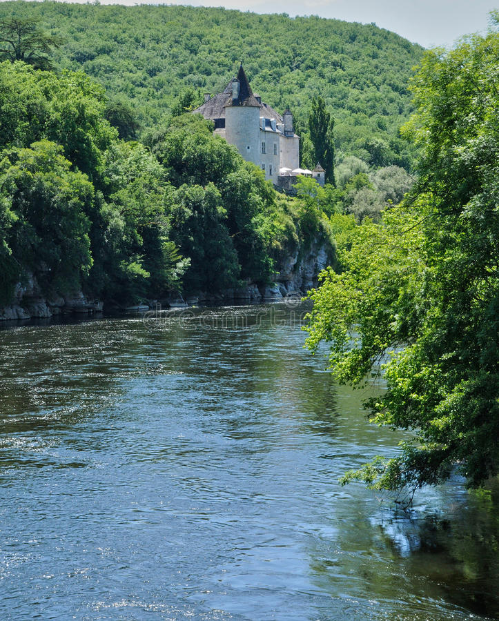 Франция, замок Treyne Ла Lacave в серии стоковые изображения
