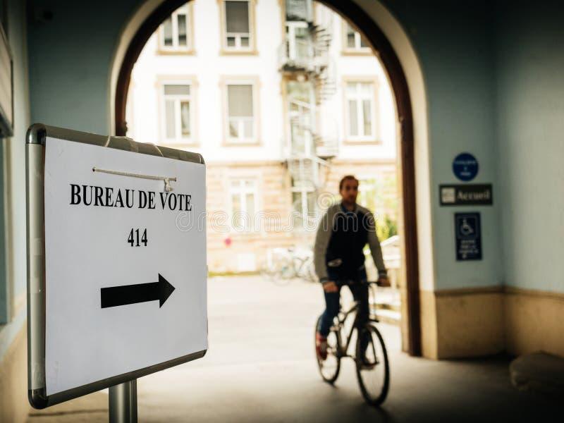 Франция; избрание; кампания; выбранный; выбранные; гражданин; демонстрация стоковая фотография