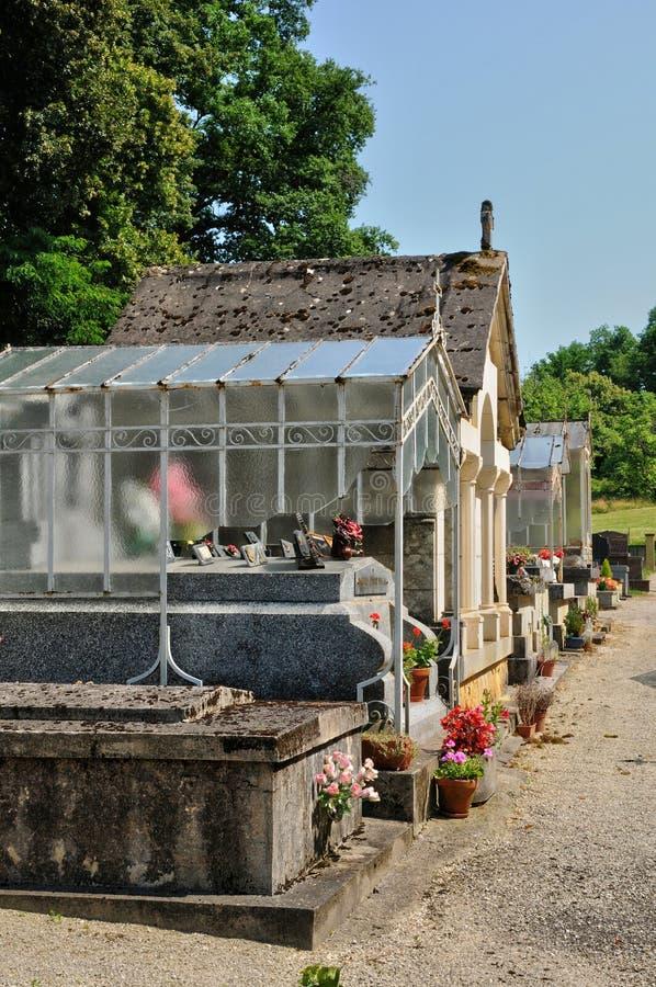 Франция, кладбище Sainte Mondane в Perigord стоковое фото