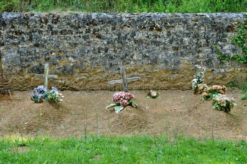 Франция, кладбище Sainte Mondane в Perigord стоковое изображение rf