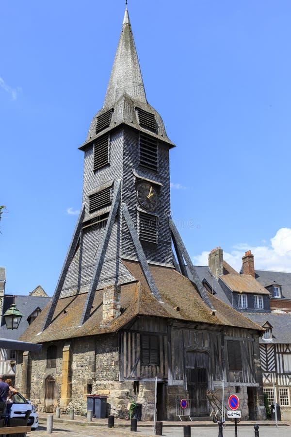 Франция Нормандия Церковь в Honfleur, Нормандии, Франции стоковые изображения