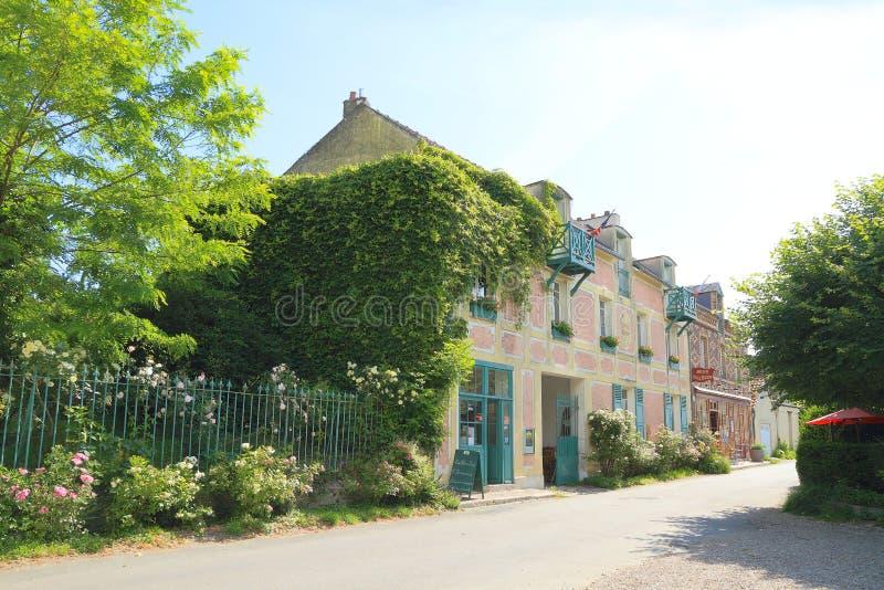 Франция, Нормандия: Старые гостиница и ресторан в Giverny стоковое изображение