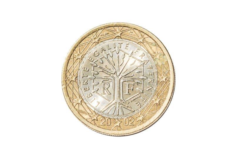 Франция одна монетка евро стоковые изображения