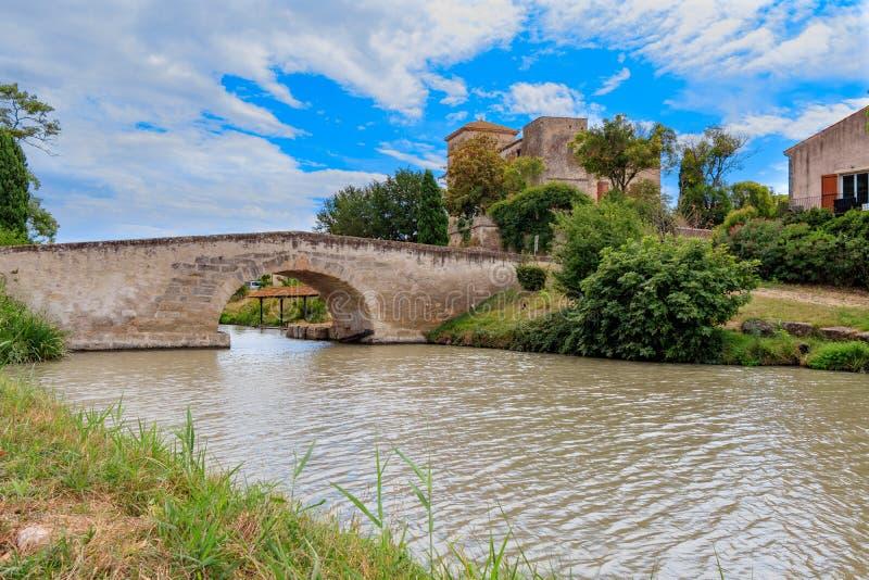 Франция, праздник, канал du Midi стоковая фотография