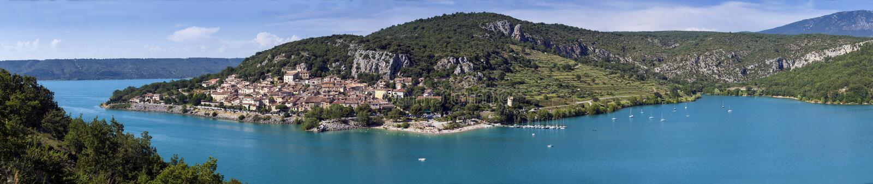 Франция - Провансаль - Sainte-Croix-du-Verdon стоковые изображения