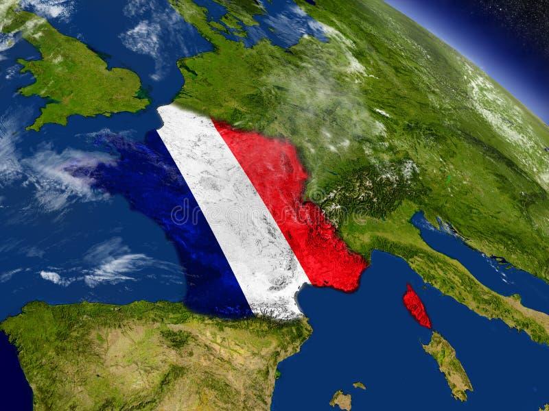Download Франция с врезанным флагом на земле Иллюстрация штока - иллюстрации насчитывающей символ, земля: 81806855