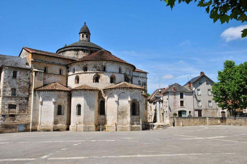 Франция, церковь аббатства Souillac в серии стоковые изображения rf
