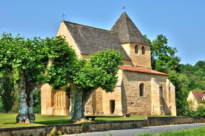 Франция, церковь Carsac Aillac в Дордоне стоковые изображения