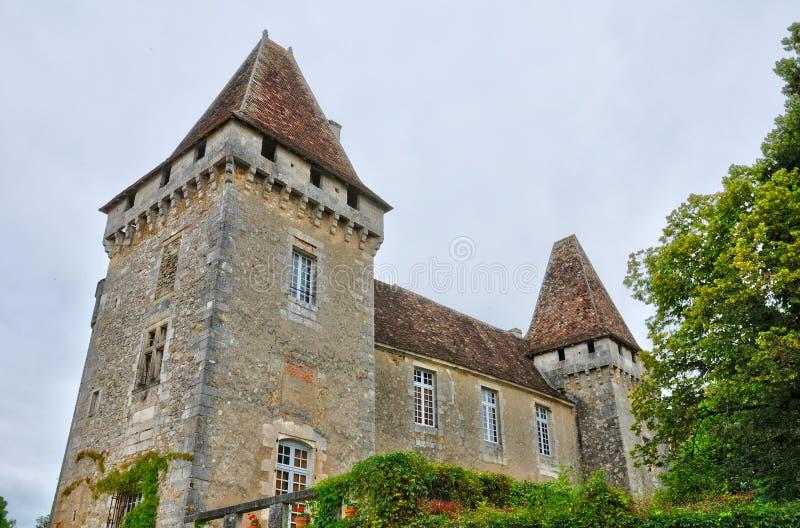 Франция, церковь Roque Gageac Ла в Perigord стоковое изображение rf