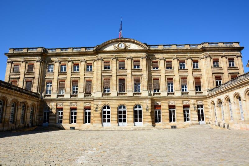 Франция, Aqutaine, Бордо, здание муниципалитет стоковые фото