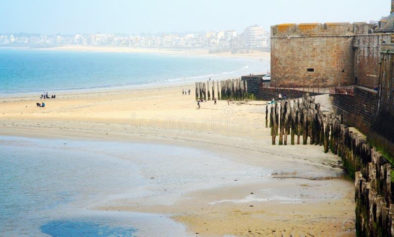Франция brittani Святой-Malo стоковое фото