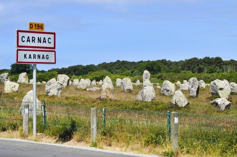 Франция Carnac стоковая фотография