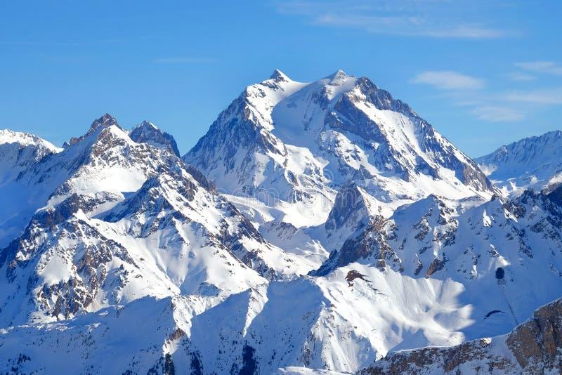 Французская высокогорная пиковая сцена стоковое изображение