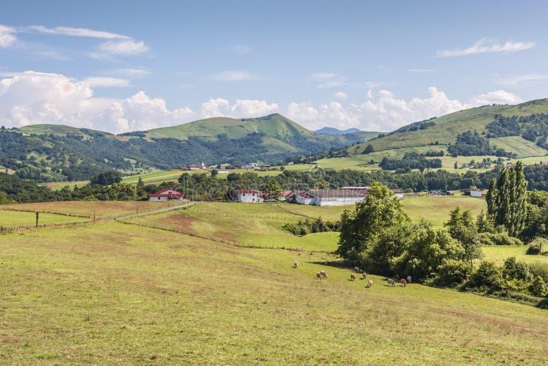 Французская сельская местность в области атлантических Пиренеи Франция стоковые изображения