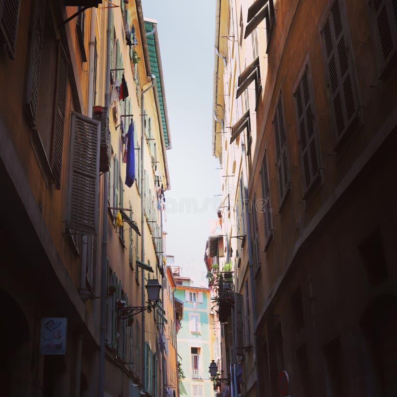 Французская сцена улицы стоковое изображение rf