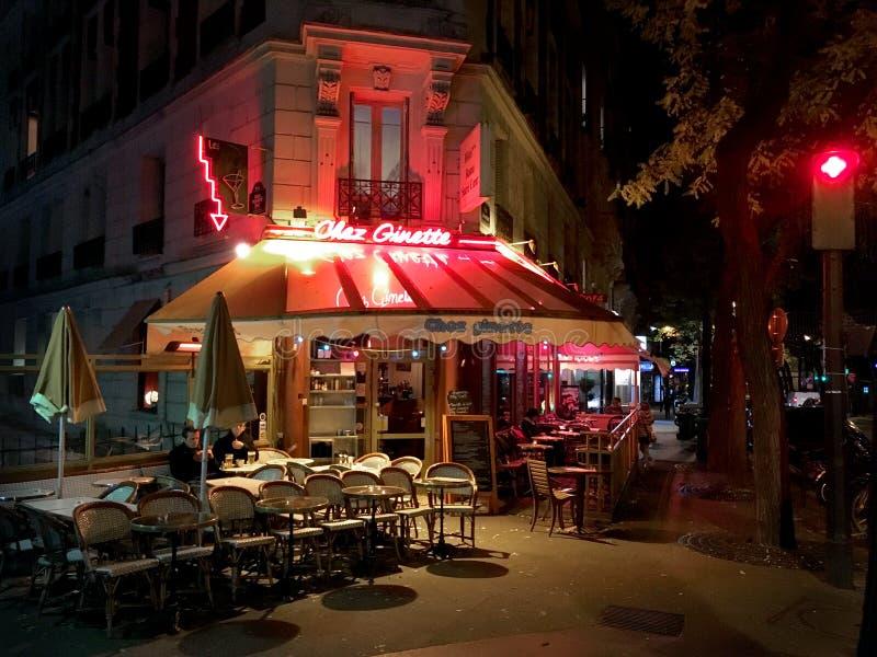 Французские бистро Montmartre Париж стоковое фото