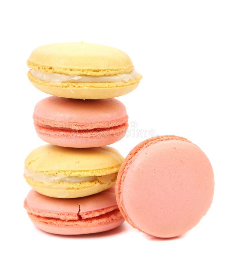Французские вкусные macaroons стоковые изображения rf