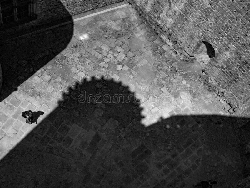 Французский взгляд двора замка сверху стоковое фото rf