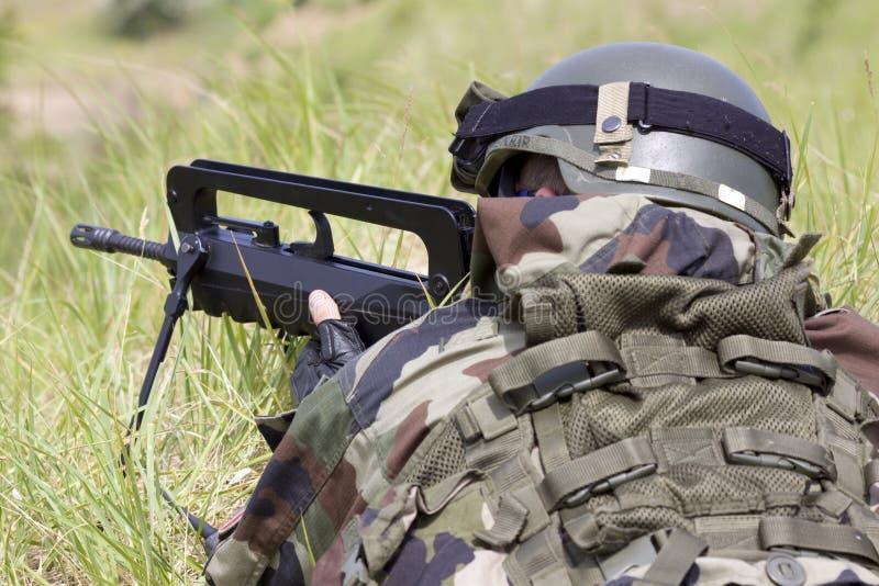 французский воин стоковая фотография