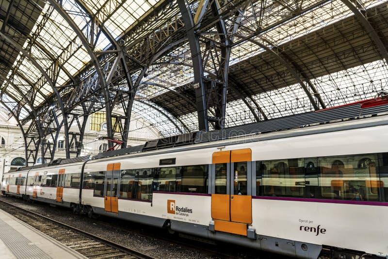 Французский вокзал в Барселоне стоковая фотография rf