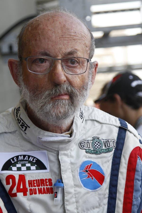 Французский водитель Henri Pescarolo стоковое фото rf