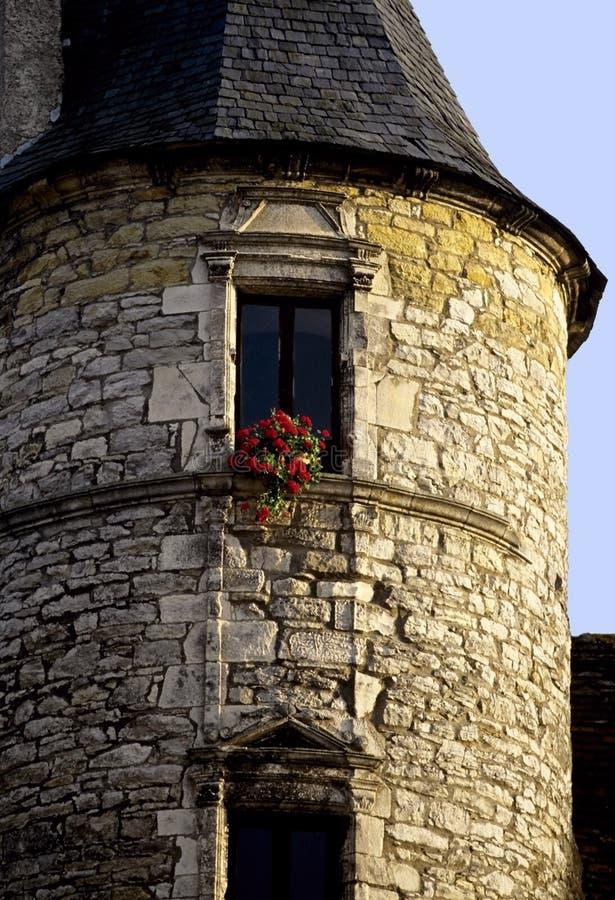 французский городок башни стоковое изображение