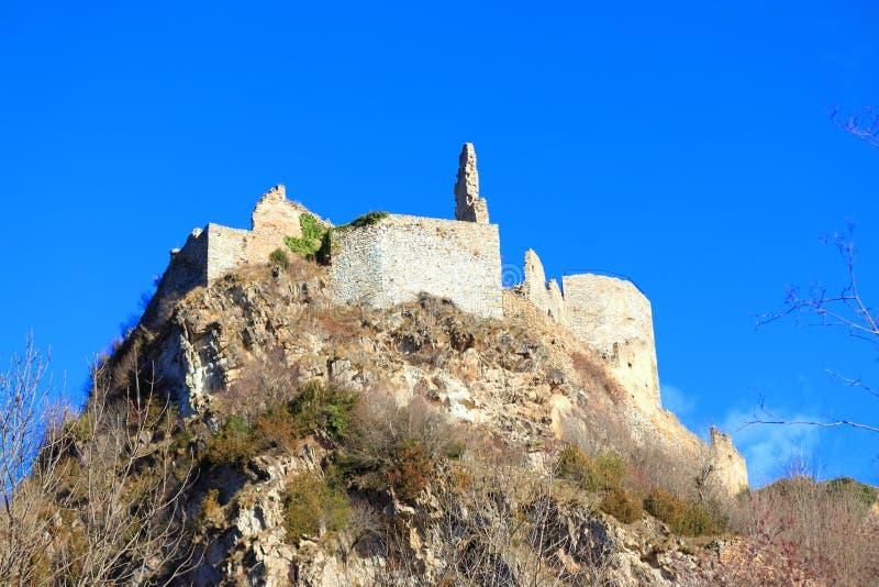 Французский замок Usson в Ariege стоковое изображение