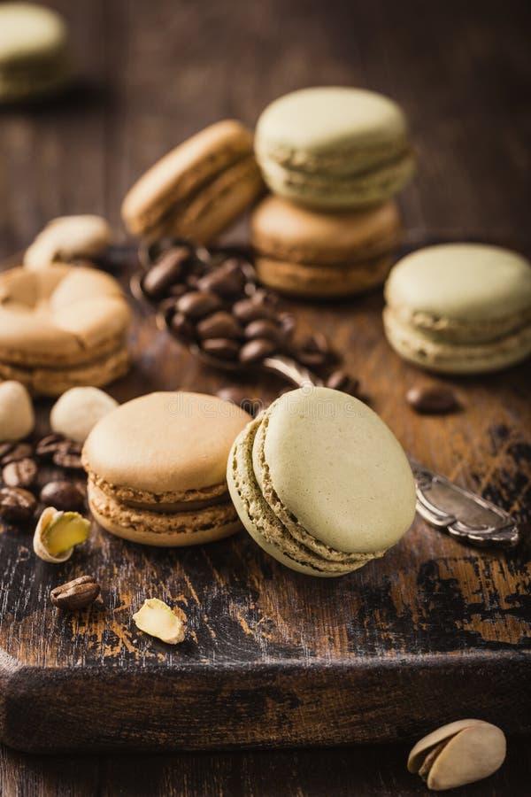 Французский кофе Macarons стоковое изображение rf