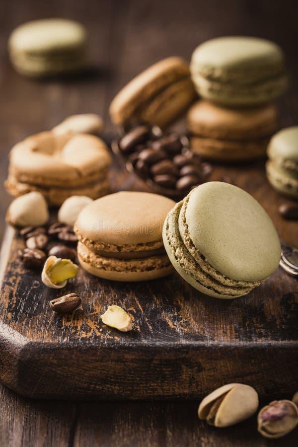 Французский кофе Macarons стоковые фотографии rf