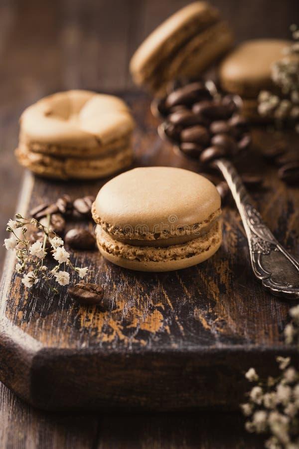 Французский кофе Macarons стоковые фото