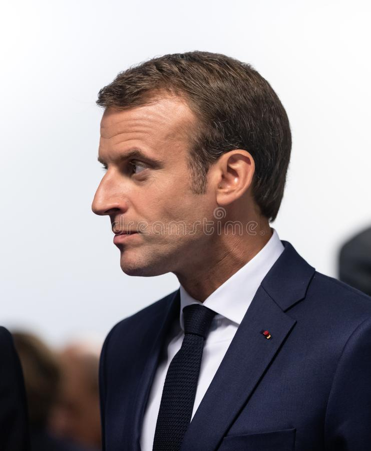 Французский президент Emmanuel Macron стоковые фото