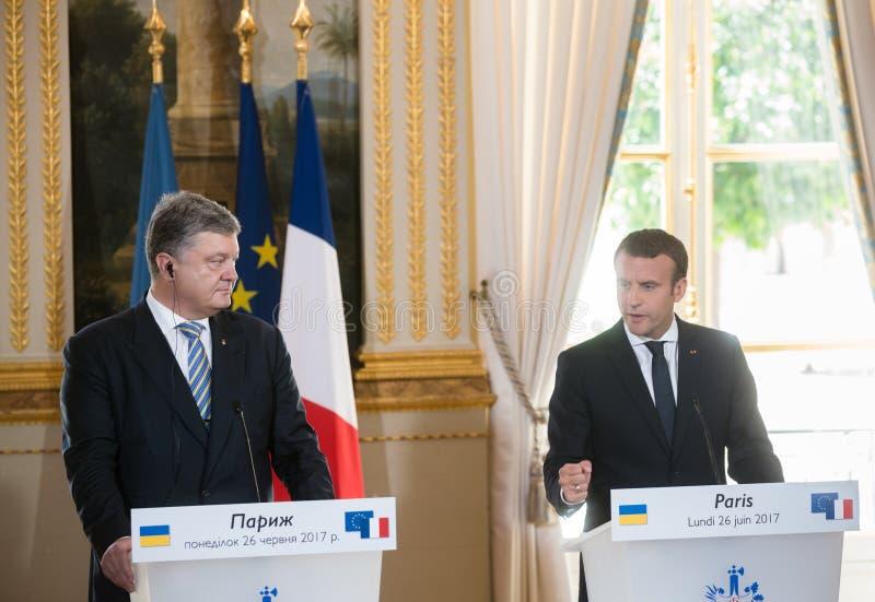 Французский президент Emmanuel Macron стоковое фото rf