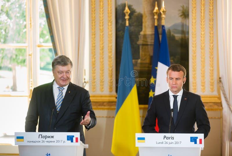 Французский президент Emmanuel Macron стоковые фотографии rf