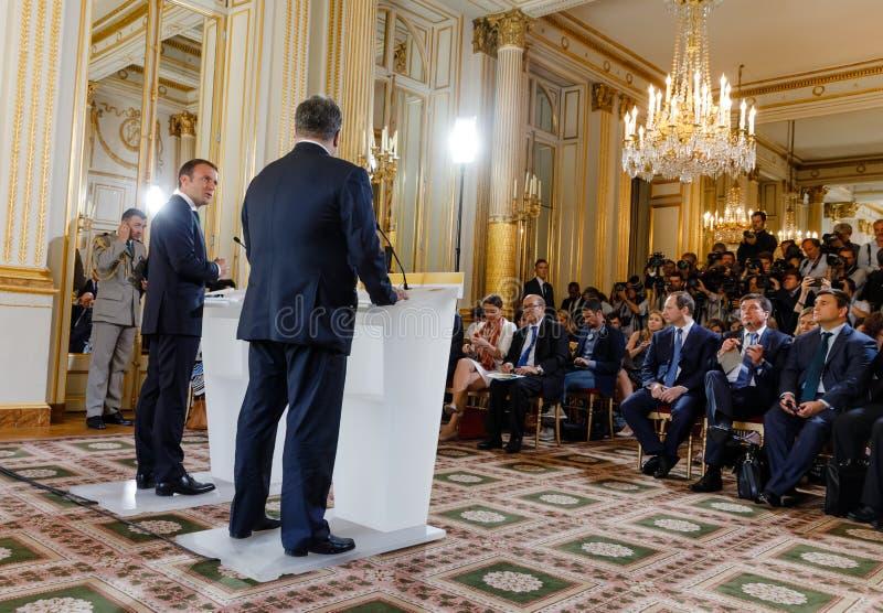 Французский президент Emmanuel Macron стоковое изображение rf