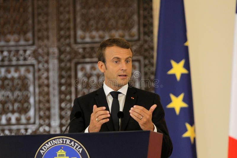 Французский президент Emmanuel Macron стоковое фото