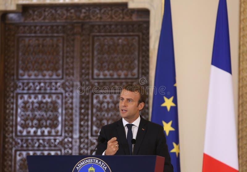 Французский президент Emmanuel Macron стоковая фотография rf