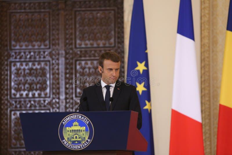 Французский президент Emmanuel Macron стоковое изображение