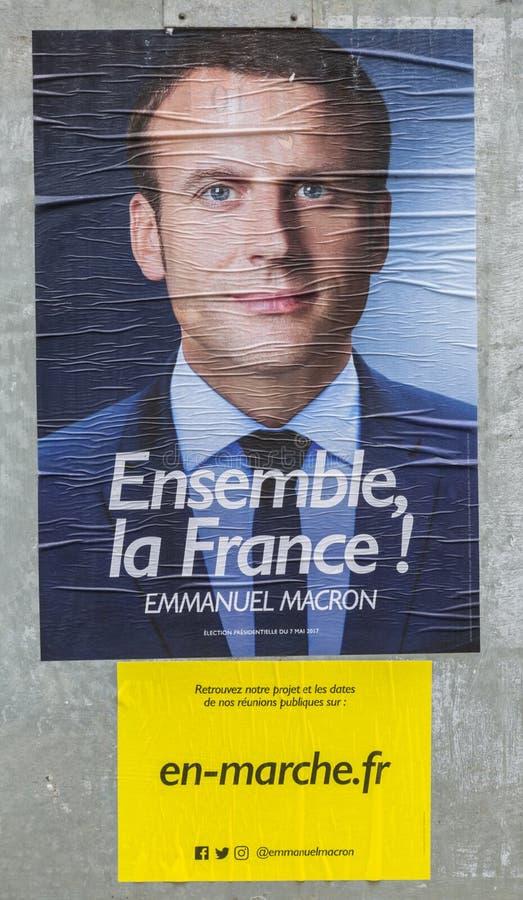 Французский плакат избрания - второй круг стоковые изображения