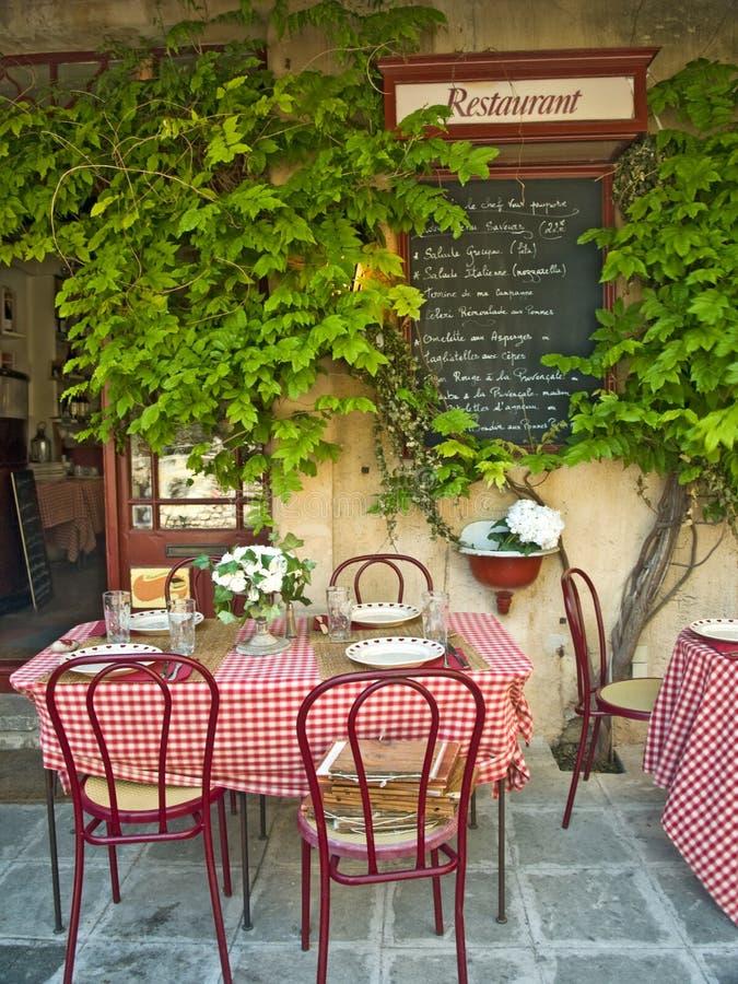 французский ресторан стоковая фотография