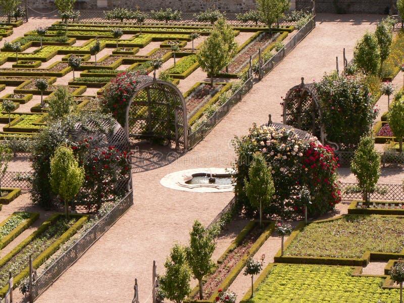 французский сад стоковое изображение rf
