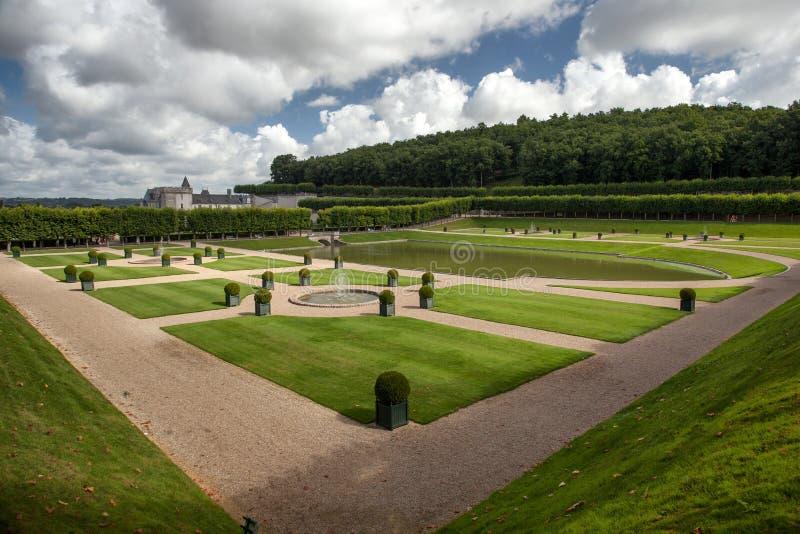 Французский сад в Замке de Villandry стоковое изображение