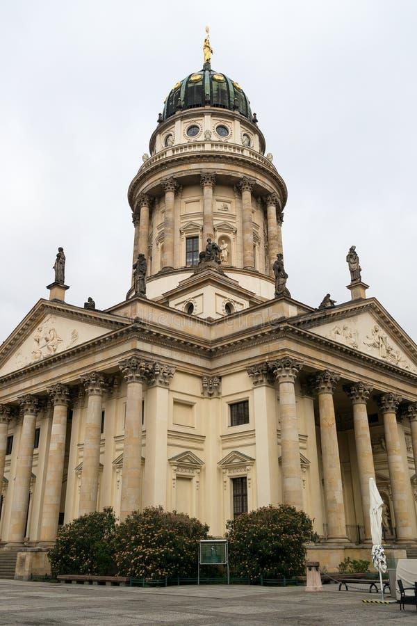 Французский собор на Gendarmenmarkt стоковое изображение rf