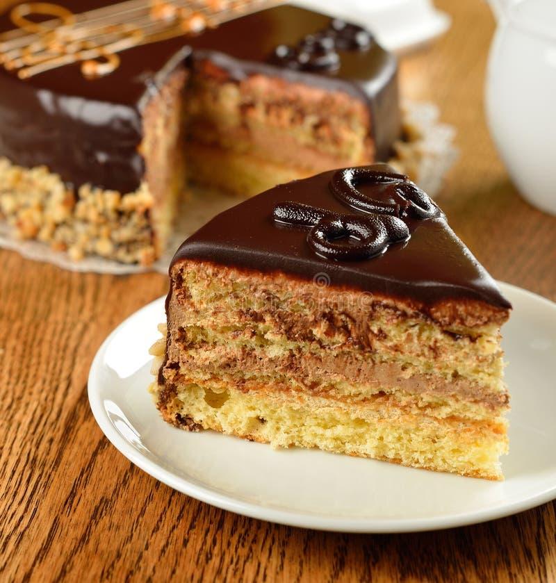 Французский торт оперы стоковое фото rf