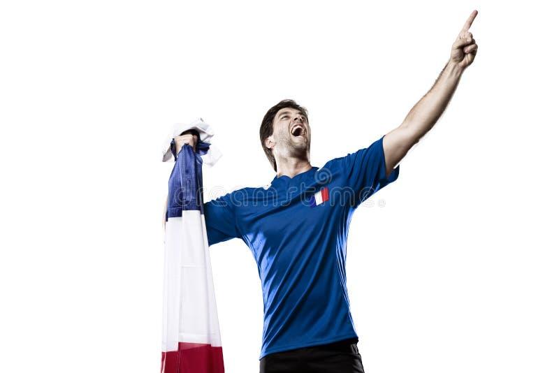 Французский футболист стоковые изображения