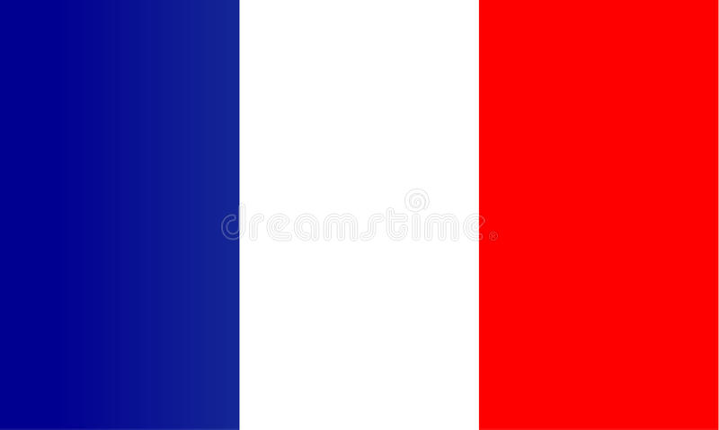 Французский флаг стоковое изображение rf